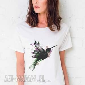 unikalne koszulki oversize humingbird painted t-shirt