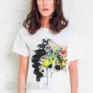 hand made koszulki oversize indian painted t-shirt