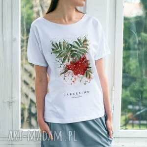 modne koszulki oversize jarzębina t-shirt