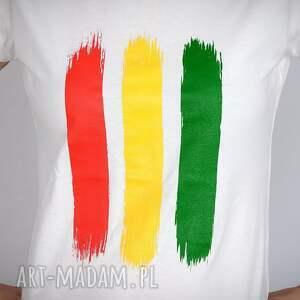 koszulki reggae koszulka biała rasta - damska