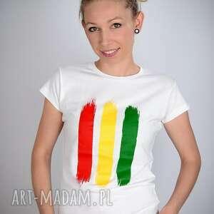 koszulki rasta koszulka biała - damska
