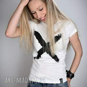 t shirt koszulki koszulka biała x - damska