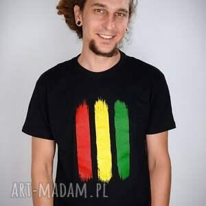intrygujące koszulki rasta koszulka czarna - męska