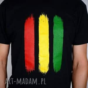 koszulki reggae koszulka czarna rasta - męska