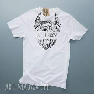 oryginalne koszulki broda let it grow koszulka dla brodacza
