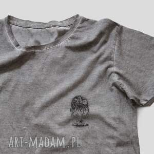unikalne koszulki vintage mini sowa koszulka unisex