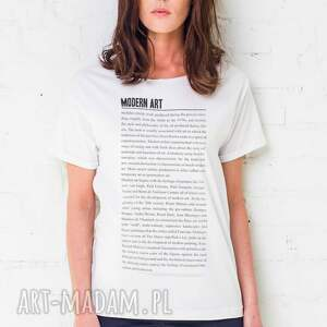 ręcznie zrobione koszulki oversize modern art t-shirt