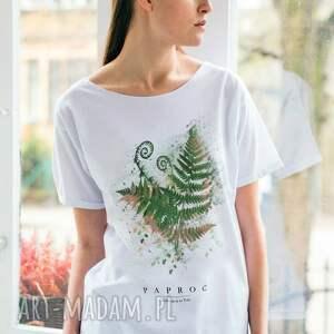 trendy koszulki oversize paproć t-shirt