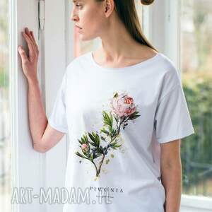 koszulki oversize piwonia t-shirt