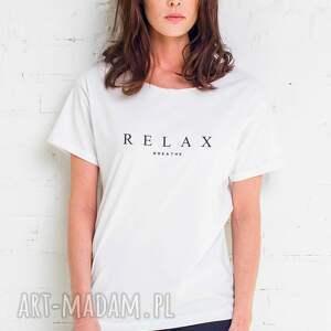 atrakcyjne koszulki oversize relax t -shirt
