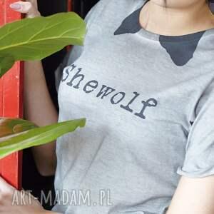 unikalne koszulki unisex shewolf koszulka z krótkim rękawem