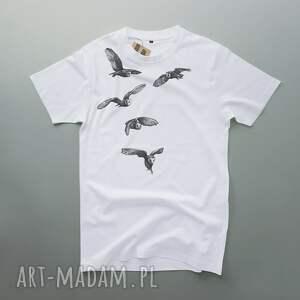unikalne koszulki ptaki sowy koszulka z nadrukiem