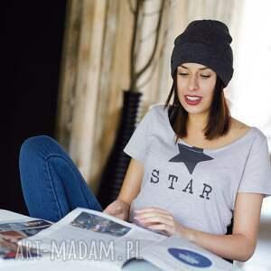 hand-made koszulki gwiazda star koszulka damska oversize