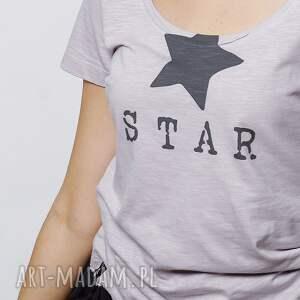 hand-made koszulki tshirt star koszulka damska oversize