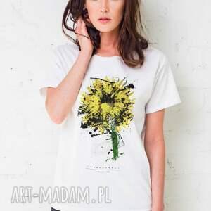 unikatowe koszulki oversize sunflower painted t-shirt