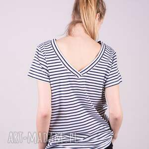 handmade koszulki t shirt t damski klasyczny -paski