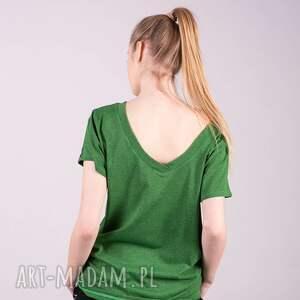 handmade koszulki t shirt damski klasyczny zielony