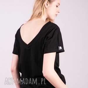 kolorowe koszulki bluzka t shirt damski klasyczny czarny