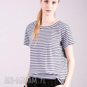 koszulki bluzki t shirt damski klasyczny -paski