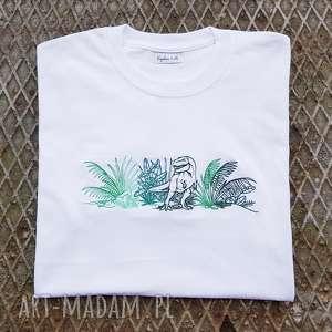 zielone koszulki bluzka t-shirt dino