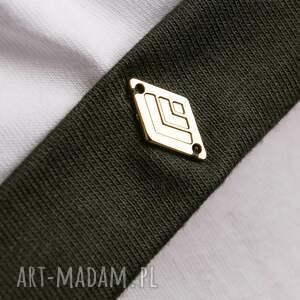 koszulki: t shirt - koszulka khaki sleeves, rozmiar l - biała
