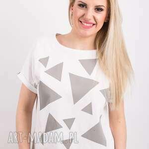 HUEME koszulki: T shirt - koszulka triangle mess grey, rozmiar s - bawełna