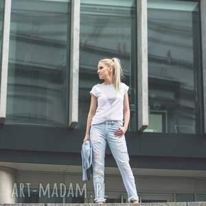 koszulki biała t shirt - koszulka lonely shape