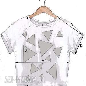 koszulki: T shirt - koszulka triangle mess grey, rozmiar s - bawełna trójkąty