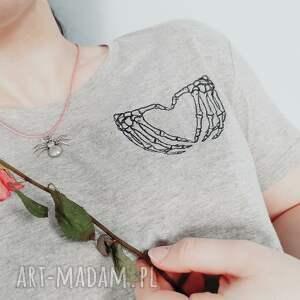 ręcznie wykonane koszulki koszulka t-shirt z haftem love