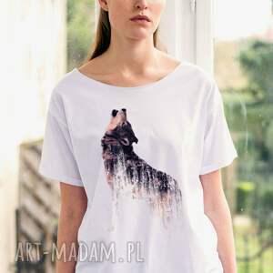gustowne koszulki oversize wolf t-shirt