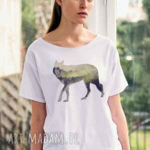 unikalne koszulki oversize wood wolf t-shirt