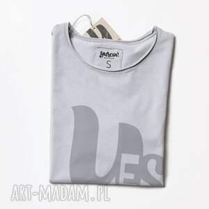 trendy koszulki napis yes koszulka z napisem