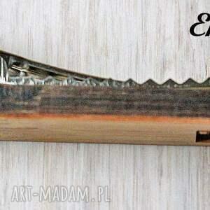 brązowe krawaty drewniana spinka do krawata aparat