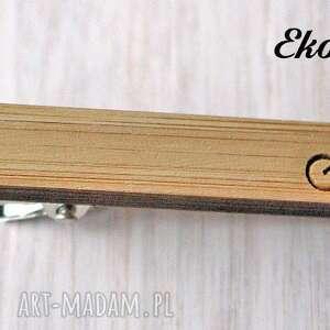handmade krawaty spinka drewniana do krawata rower