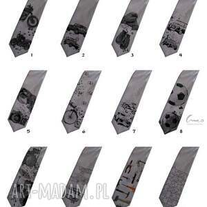 krawaty krawat drukowany, śledzik