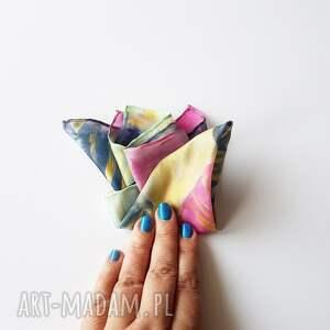 męska chusteczka krawaty malowana poszetka - abstrakcyjny