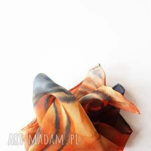 ręcznie robione krawaty malowanposzetka malowana poszetka