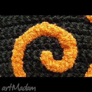 BARSKA krawat damski z zawijasem pomarańczowym - zawijas