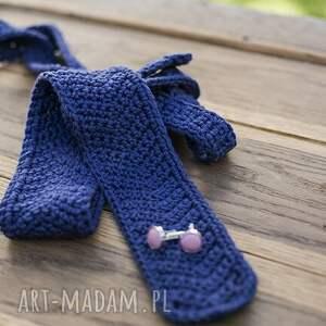 czarne krawaty unisex krawat na szydełku