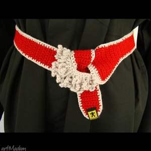 damski krawaty krawat - pasek czerwony