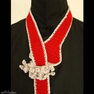 czerwone krawaty krawat - pasek czerwony damski