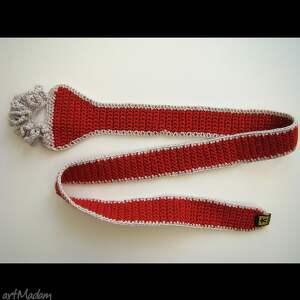 krawaty krawat - pasek czerwony damski