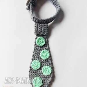 unikatowe krawaty krawat w miętowe kropki