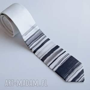 krawaty krawat w paski tuszem