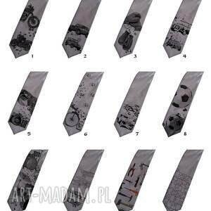 niesztampowe krawaty krawat z kogutem