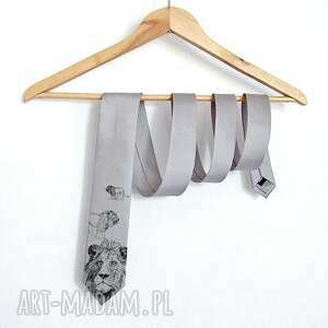 ręcznie wykonane krawaty krawat z lwem