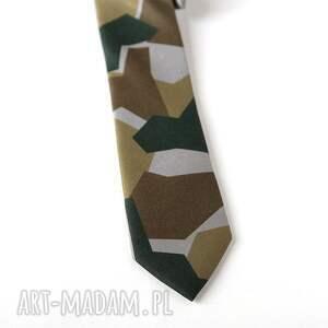 ręcznie zrobione krawaty krawat z nadrukiem moro