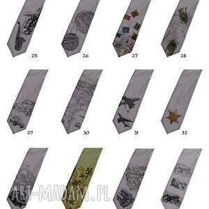 nadruk krawaty krawat z nadrukiem - sowa