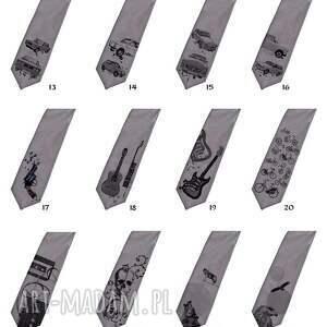krawaty śledź krawat z nadrukiem - duży fiat