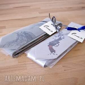 hand-made krawaty nadruk krawat z nadrukiem - wilki